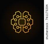 artificial intelligence brain... | Shutterstock .eps vector #761173204