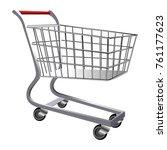 shopping cart isolated on white ... | Shutterstock .eps vector #761177623