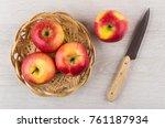 Ripe Red Apples In Wicker...