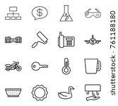 thin line icon set   hierarchy  ... | Shutterstock .eps vector #761188180