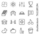 thin line icon set   atom core  ... | Shutterstock .eps vector #761189194
