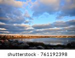 a view of the harbour in a...   Shutterstock . vector #761192398