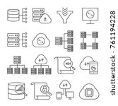 network and server icons | Shutterstock .eps vector #761194228