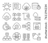 network and server icons | Shutterstock .eps vector #761194234