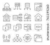 network and server icons | Shutterstock .eps vector #761195260