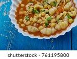 mama mia's minestrone  soup  ...   Shutterstock . vector #761195800