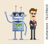 businessman in black sunglasses ... | Shutterstock .eps vector #761198614