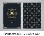 christmas greeting card design. ... | Shutterstock .eps vector #761205130