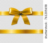 golden bow isolated  isolated... | Shutterstock . vector #761205658