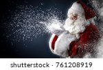 santa claus and magic night  | Shutterstock . vector #761208919