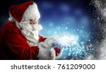 santa claus and magic night  | Shutterstock . vector #761209000