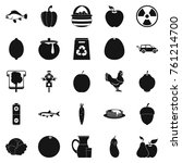 ripe food icons set. simple set ... | Shutterstock .eps vector #761214700