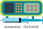 syringe pump clip art vector... | Shutterstock .eps vector #761216410