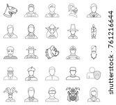 embodiment icons set. outline... | Shutterstock .eps vector #761216644