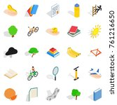 stamina icons set. isometric... | Shutterstock .eps vector #761216650