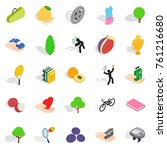 natural stamina icons set.... | Shutterstock .eps vector #761216680