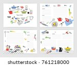 collection of card templates... | Shutterstock .eps vector #761218000