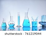 laboratory glass chemical... | Shutterstock . vector #761219044