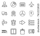 thin line icon set   share ... | Shutterstock .eps vector #761221810