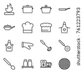thin line icon set   flammable  ... | Shutterstock .eps vector #761223793
