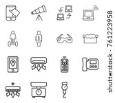 thin line icon set   touch ... | Shutterstock .eps vector #761223958