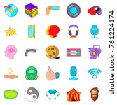 video attraction icons set.... | Shutterstock .eps vector #761224174