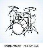 bid drumset crash base on white ... | Shutterstock .eps vector #761224366