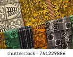 traditional west african fabric ... | Shutterstock . vector #761229886