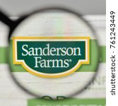 Small photo of Milan, Italy - November 1, 2017: Sanderson Farms logo on the website homepage.