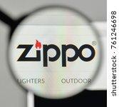 Small photo of Milan, Italy - November 1, 2017: Zippo logo on the website homepage.