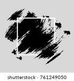 black grunge brush paint... | Shutterstock .eps vector #761249050