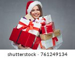 young businesswoman holding... | Shutterstock . vector #761249134