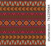 tribal vintage ethnic seamless   Shutterstock .eps vector #761259064