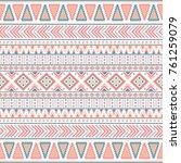 tribal vintage ethnic seamless | Shutterstock .eps vector #761259079