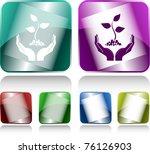 life in hands. internet buttons.... | Shutterstock . vector #76126903