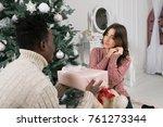 african american man gives a...   Shutterstock . vector #761273344