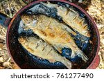 small river fish fried in a... | Shutterstock . vector #761277490
