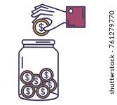Hand Saver With Glass Jar And...