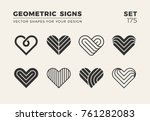 set of eight minimalistic... | Shutterstock .eps vector #761282083