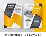 business brochure design... | Shutterstock .eps vector #761294764