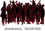 vector silhouette of family.   Shutterstock .eps vector #761297350