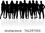 group of people. crowd of... | Shutterstock .eps vector #761297353