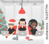 christmas atmosphere in the... | Shutterstock .eps vector #761297794