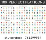 180 modern flat icon set of... | Shutterstock .eps vector #761299984