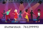 vector cartoon multi ethic... | Shutterstock .eps vector #761299993