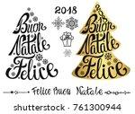 buon natale lettering in...   Shutterstock .eps vector #761300944