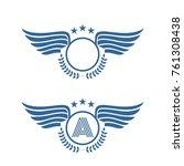 vintage wing symbol logo | Shutterstock .eps vector #761308438