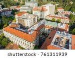 aerial view of buildings in... | Shutterstock . vector #761311939
