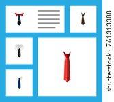 flat icon tie set of necktie ... | Shutterstock .eps vector #761313388