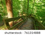 staircase leading down a deep... | Shutterstock . vector #761314888